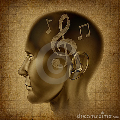 Free Music Brain Musical Mind Genius Notes Composer Stock Photography - 17390702