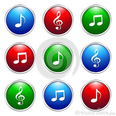 Free Music Button Royalty Free Stock Images - 41885139