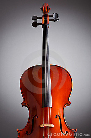 Music Cello in the dark