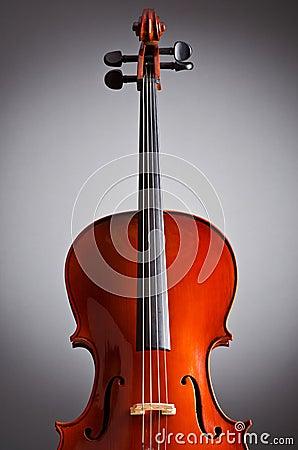 Music Cello in the dark