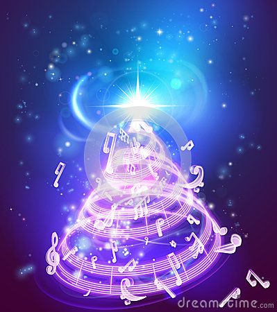 Free Music Christmas Tree Stock Images - 62923784