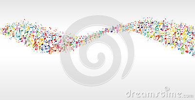 Music color wave Vector Illustration