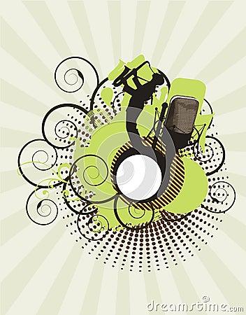 Music concert - green