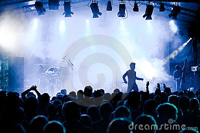 Music concert with stage and audience Editorial Image