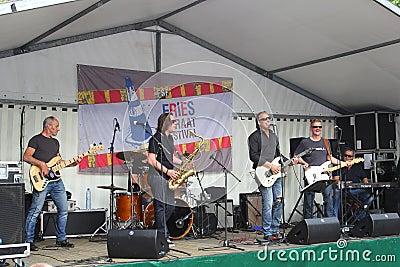Pop concert at Street Festival,Leeuwarden,Holland
