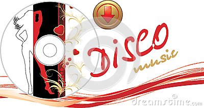 Music disk with button. Romance composition