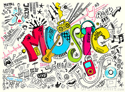 Music Doodle Vector Illustration