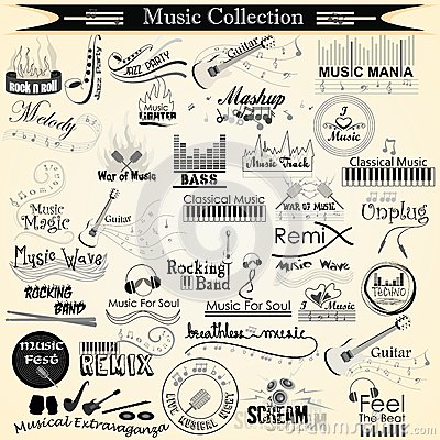 Music and Entertainment calligraphy