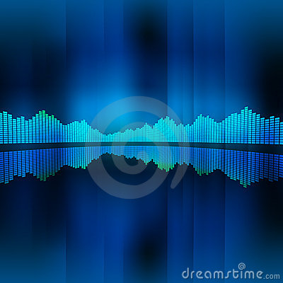 Free Music Equalizer Background Stock Image - 9336221