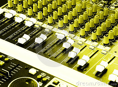 Music equalizers & mixers console of DJ