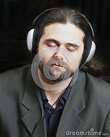 Music executive close up