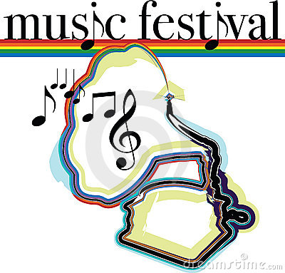 Music festival illustration.