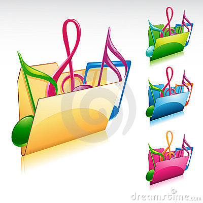 Free Music Folder Icon Stock Photography - 16328352