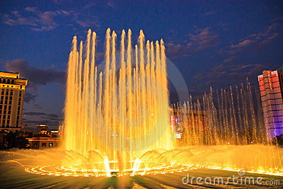 Music fountain, Bellagio hotel, Las Vegas Editorial Photography