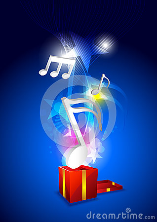 Music from gift box