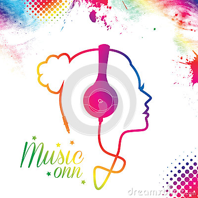 Music Girl Stock Photo