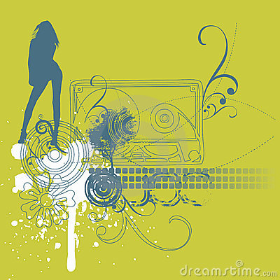 Music girl background