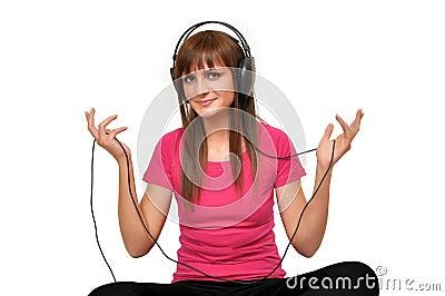 Music girl with headphones