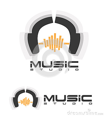 Free Music Headphones Logo Royalty Free Stock Photo - 35889965