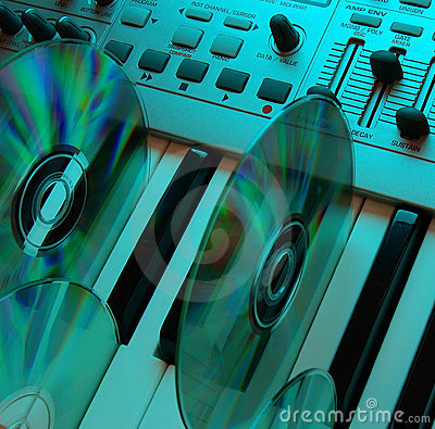 Free Music Home Studio (cyan 2) Stock Image - 583351