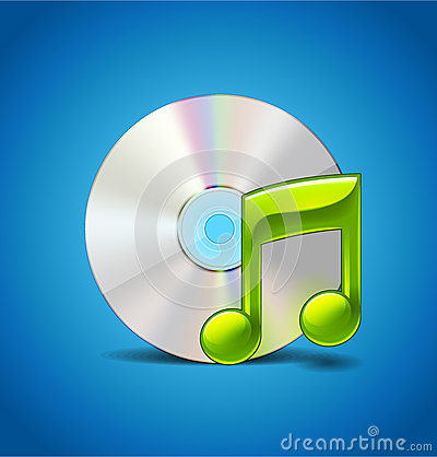Free Music Icon With CD Stock Photo - 30363330