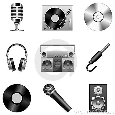 Free Music Icons. Royalty Free Stock Photos - 12175288
