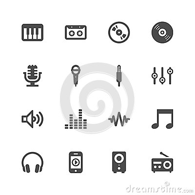 Free Music Icons Stock Photo - 36407300