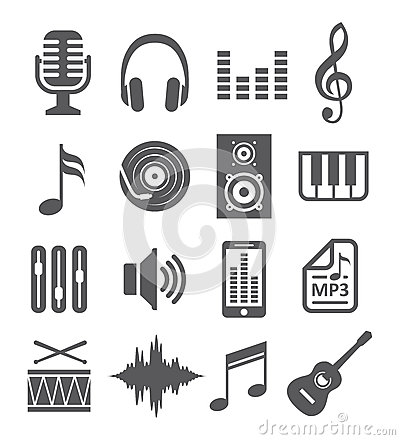 Free Music Icons Stock Photography - 39659622