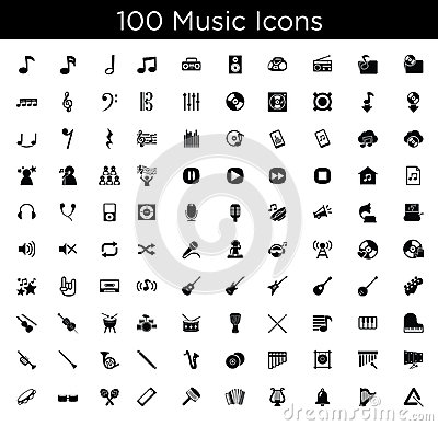 Free Music Icons Royalty Free Stock Image - 42384366