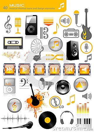 Free Music Icons Stock Photo - 6315920