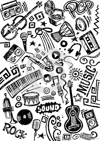 Music Instrument Doodle Stock Illustration Image 42745317