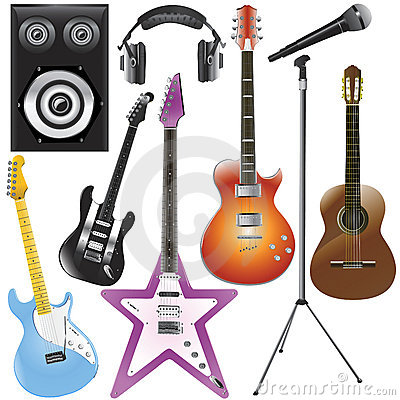 Free Music Instruments Royalty Free Stock Photos - 4362488