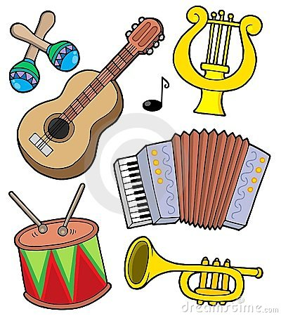 Free Music Instruments Collection 1 Royalty Free Stock Photos - 7712648
