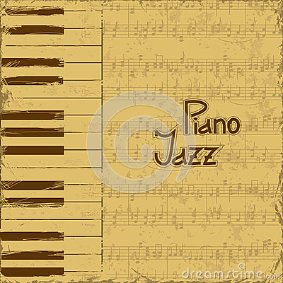 Music invitation with keyboards and note stave