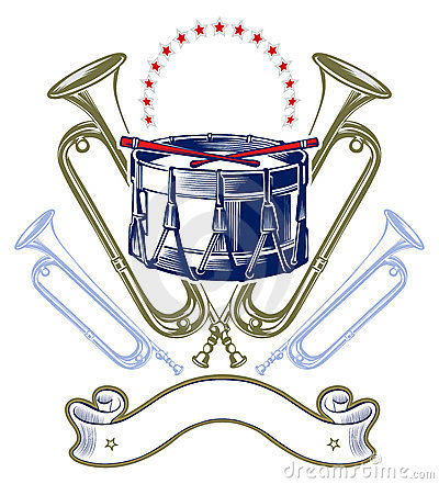 Music jazz band emblem