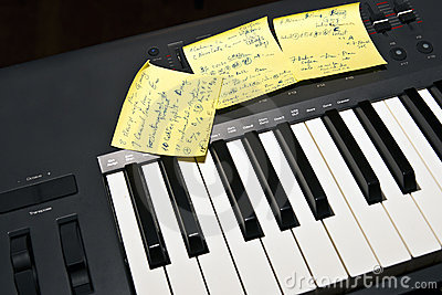 Music keyboard ready to play