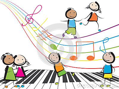 Music kids Vector Illustration