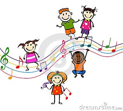 Music kids Vector Illustration