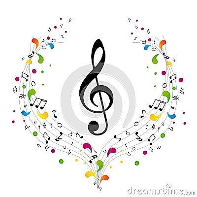 Music logo - treble clef