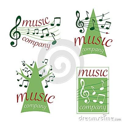 Music logos (vector)