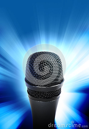 Music Microphone Glowing