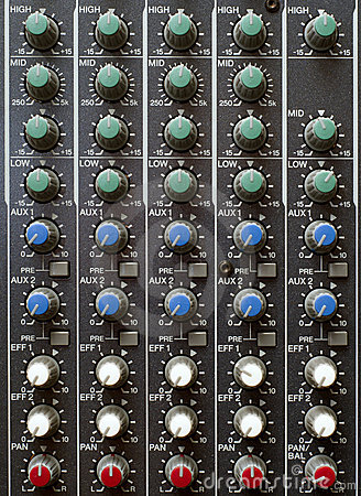 Sound Mixer Knobs