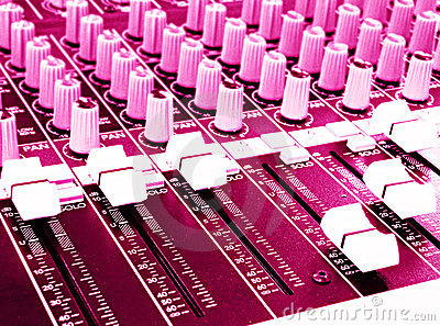 Music Mixing console hot pink
