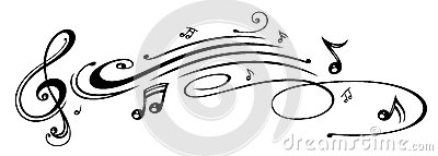 Music, music notes, clef
