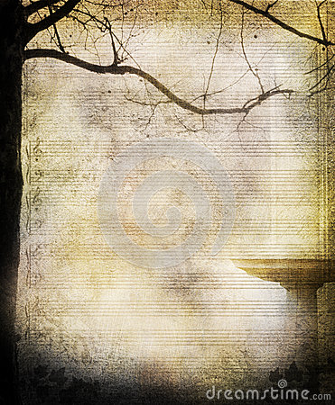 Music sheet tree background
