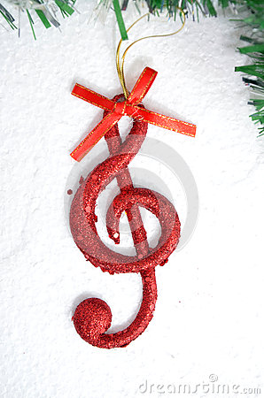 Free Music Note, Christmas  Scene, Decoration Stock Images - 46948614