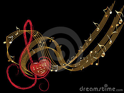 Music note of love