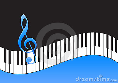 Music Note and piano keyboard