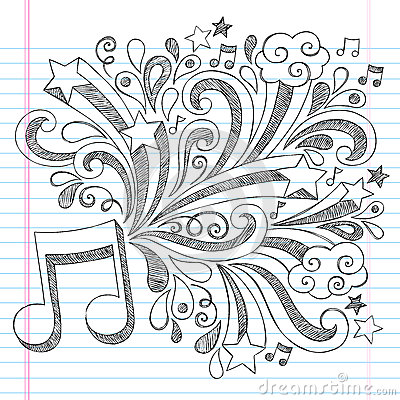 Music Note Sketchy Notebook Doodle Vector Illustra