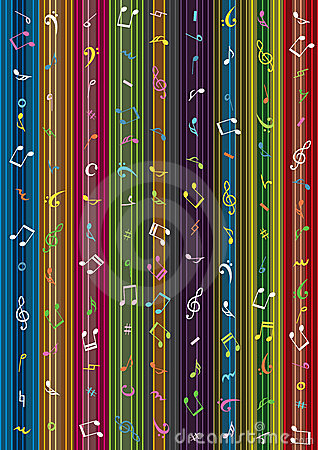 Music Note Stripe Curtain Background_eps